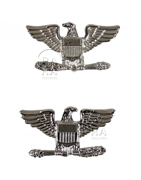 Colonel rank insignia, pair
