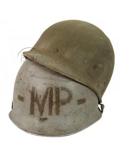 Casque M1, complet, MP, Normandie
