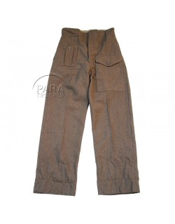 Trousers, army, British, Pattern 40, 1942