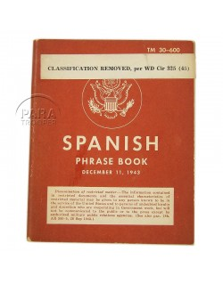 Booklet, Spanish phrase book, 1943