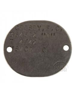 Dog tag, USMC, 1942