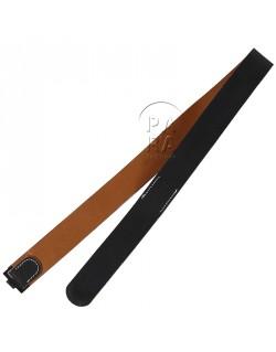 Belt, black leather