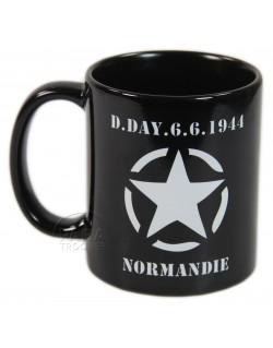Mug D-Day noir, étoile