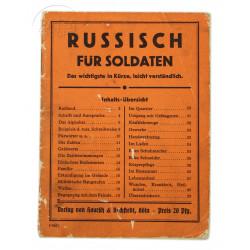 Livret, Russisch für Soldaten, 1941