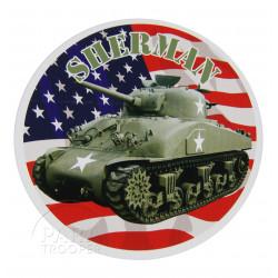 Autocollant, US Army Sherman