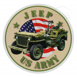 Autocollant, US Army Jeep