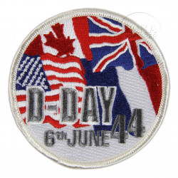 Patch, D-Day 1944, flags
