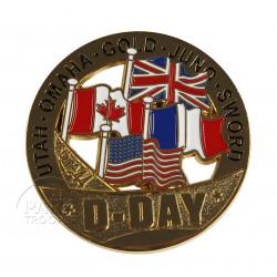 """Pièce commémorative D-Day """"S"""""""