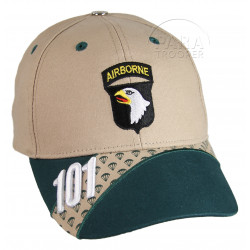 Cap, Airborne 101, Tan and green