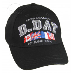 Cap, Baseball, Kids, D-Day Normandy, Black