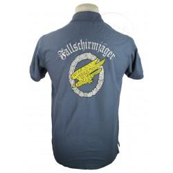 Polo shirt, Blue, Fallschirmjäger