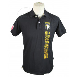 Polo shirt, Black, 101 AIRBORNE