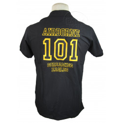 Polo shirt, Black, 101 AIRBORNE