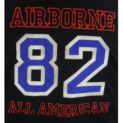 Polo shirt, Black, 82nd Airborne Division