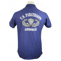 Polo shirt, Blue, US Paratroops