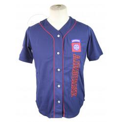 Chemise Baseball, bleu marine, 82nd Airborne