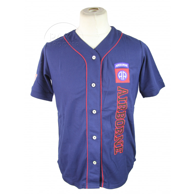 Baseball shirt, Navy blue, 82nd Airborne