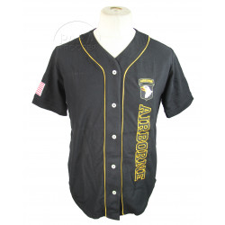 Baseball shirt, Black, 101st Airborne