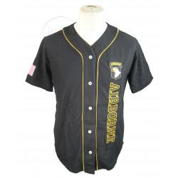 Baseball shirt, Black, 101st Airborne