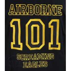 Chemise Baseball, noire, 101st Airborne