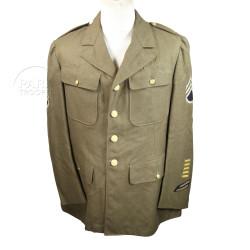 Coat, Wool, Serge, OD, 42R, 1942, Named