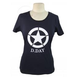 T-shirt femme, bleu marine, D-Day