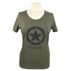 T-shirt femme, kaki, D-Day