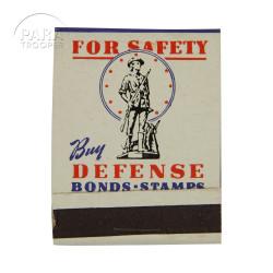 Matchbook, Buy Defense Bonds & Stamps