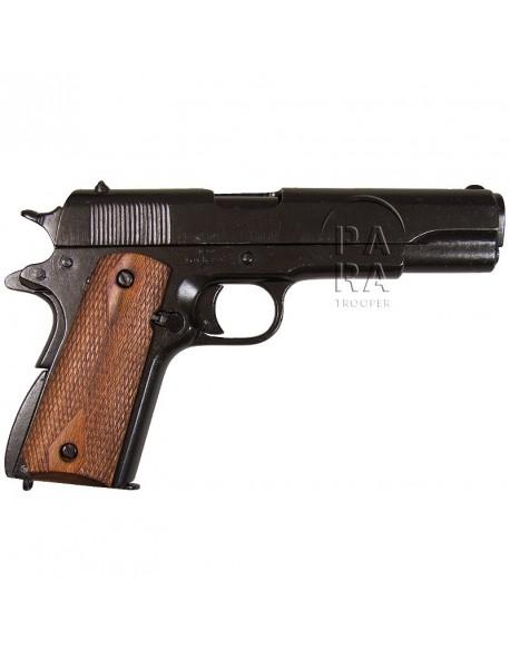 Colt M1911 A1, métal, plaquettes bois striées, démontable