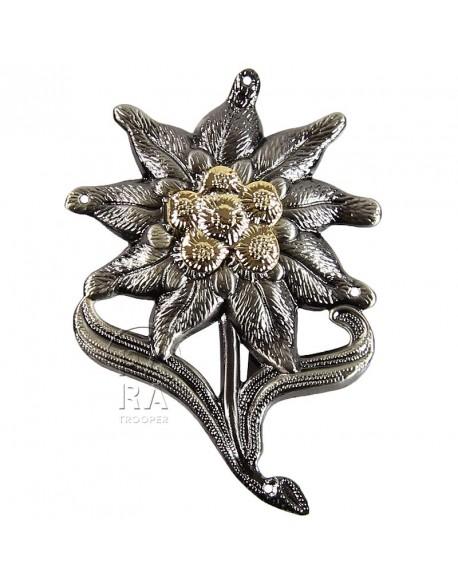 Insigne edelweiss métal pour casquette