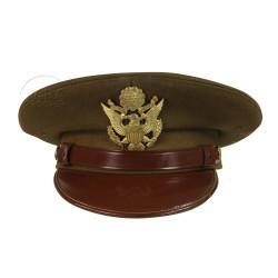Casquette officier, US Army, fabrication tailleur