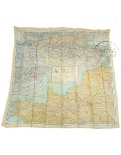 Map, Silk, A/B, 1943