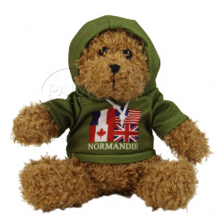 Teddy bear, Hoodie, Allied flags