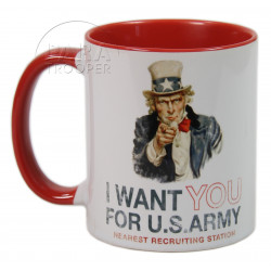 Mug, I Want You, Red handle