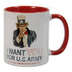 Mug I Want You, poignée rouge
