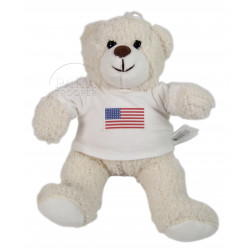 Teddy bear, T-shirt, US Flag