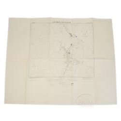 Carte de La-Haye-du-Puits, Normandie, 1944