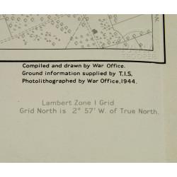 Map, US Army, La-Haye-du-Puits, Normandy, 1944