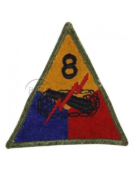 Insigne 8e division blindée US