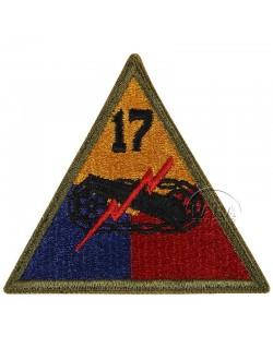 Insigne de la 17e division blindée US
