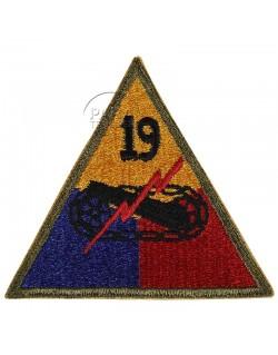 Insigne de la 19e division blindée US