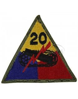 Insigne de la 20e division blindée US