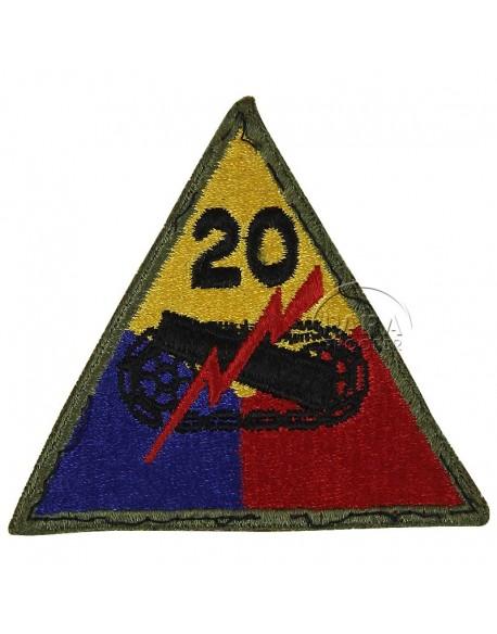 Insigne 20e division blindée US