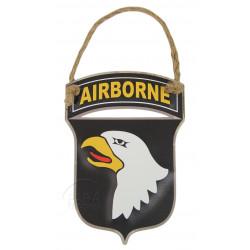 Plaque blason 101st Airborne, à suspendre