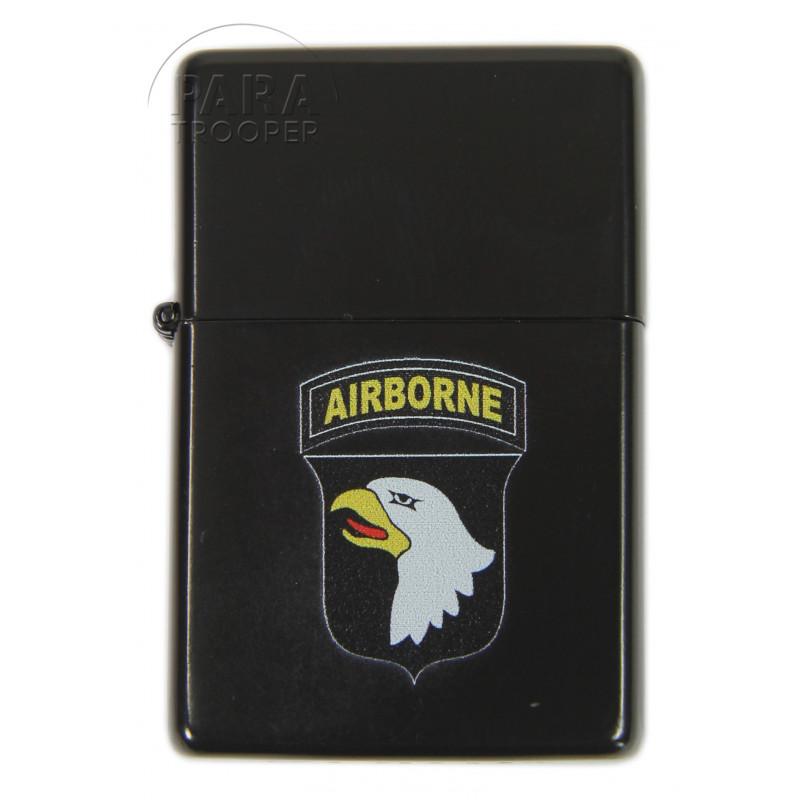 Lighter, type ZIPPO, 101st Airborne Div., black