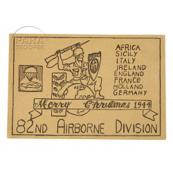 Card, Merry Christmas, 82nd Airborne Div., 1944