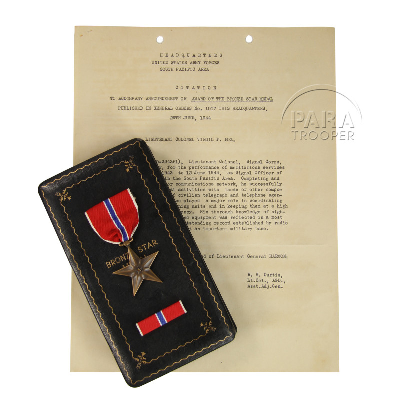 Coffret médaille, Bronze Star, Identifiée