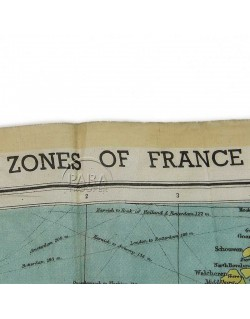 "Map, ""Zones of France"", 1944"