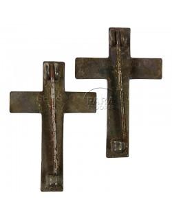 Paire d'insignes de col aumônier Catholique, Sterling