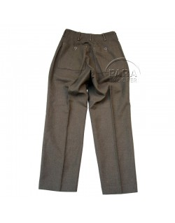 Trousers, Wool, Serge, OD, Light shade, British Made, 1943